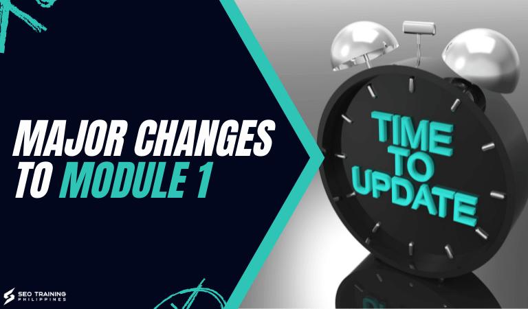 major updates to module 1